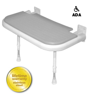 AKW Medicare 04570P 4000 Series Shower Seat ADA Rectangular - Gray - 26 Inch W