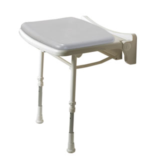 ARC Inc 02010P 2000 Series Shower Seat Standard Padded Seat - Gray - 18.125 Inch W