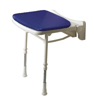 ARC Inc 02210P 2000 Series Shower Seat Standard Padded Seat - Blue - 18.125 Inch W