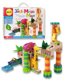 Alex Toys 17N Toys Jungle Marble Maze - 36 Hardwood Blocks ALX007