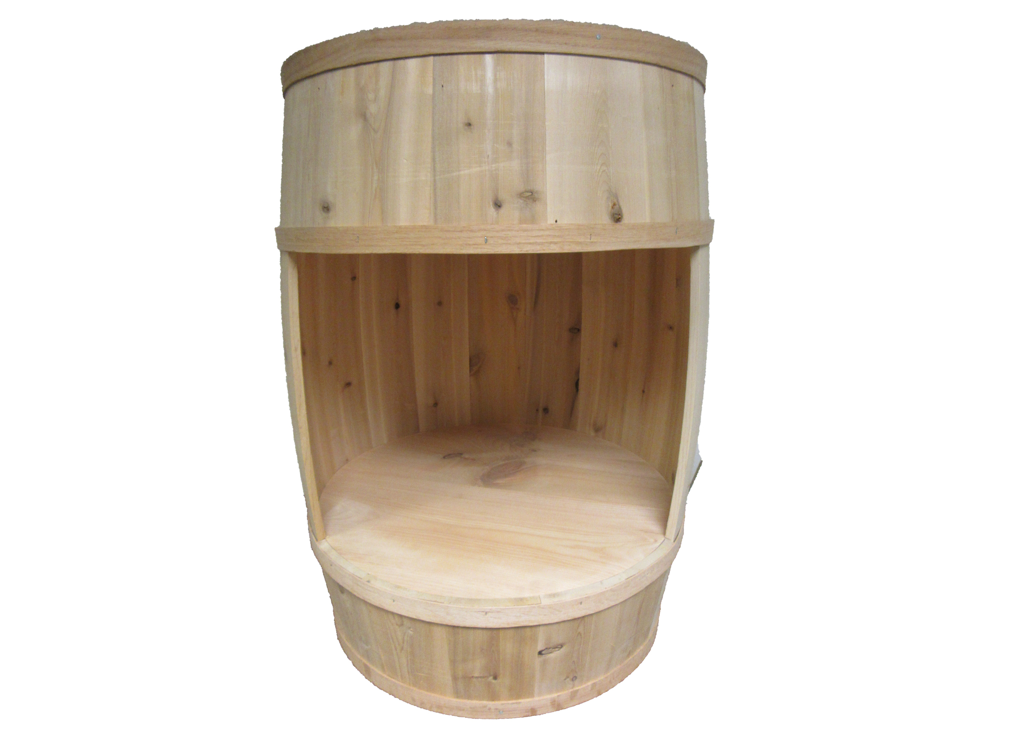 All Maine Bucket BD203 18 x 30 Inch Cut Out Display Barrel