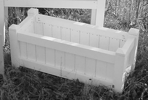 All Maine Bucket D001PW 36 Inch Cedar Planter - Painted White
