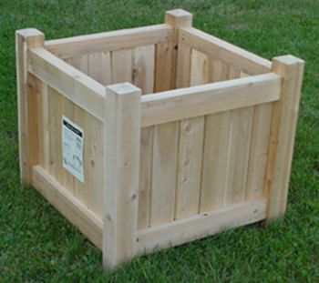 All Maine Bucket D004 24 Inch Cedar Cube Planter