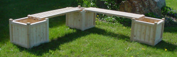 All Maine Bucket D530 3-18 Inch Cubes with 2 Benches without Lattice