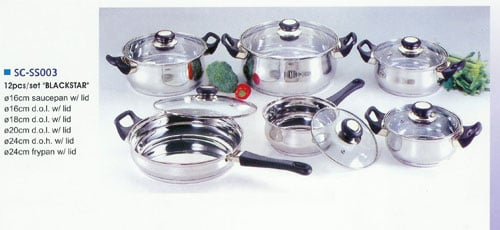 American Trading House SC-SS003 12 pcs S/S Cookware Set