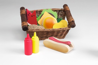 Anatex FBA0103 Picnic Lunch Basket Foods
