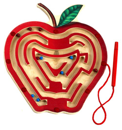 Anatex MA6017 Magnetic Apple Maze Will Build Manual Dexterity