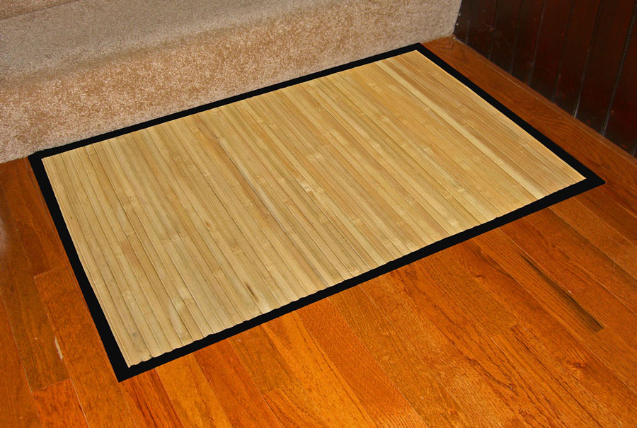 Anji Mountain AMB0036-0023 Contemporary Natural Bamboo Rug 2 x 3