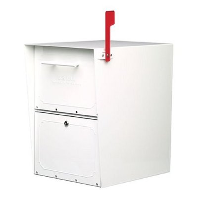 Architectural Mailboxes 5100W Oasis Curbside Locking Mailbox 20x13.5x18.5 Inch - White