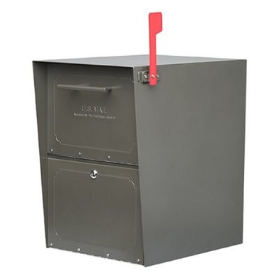 Architectural Mailboxes 5100Z Oasis Curbside Locking Mailbox 20x13.5x18.5 Inch - Bronze