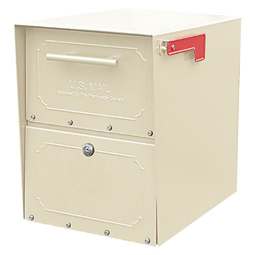 Architectural Mailboxes 6200S-10 Oasis Jr. Curbside Locking Mailbox 15x11.5x18 Inch - Sand