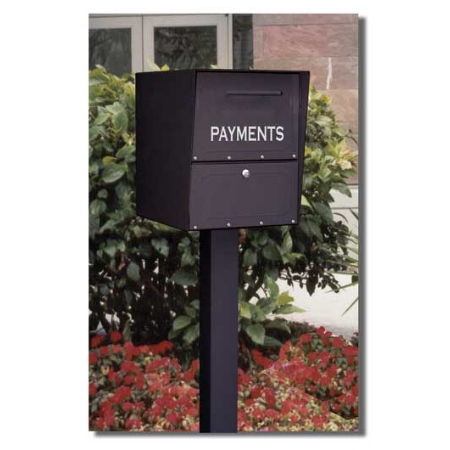 Architectural Mailboxes 5103B Oasis Drop Box 20x13.5x18.5 Inch - Black