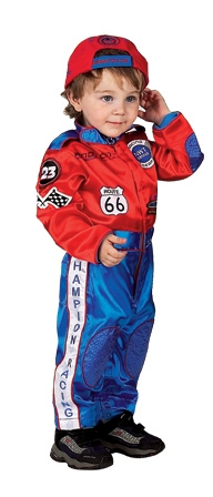 Racing Suits - Aeromax RSRB-ROMP Jr Champion Racing Suit Size 6 To 12 Month Red And Blue