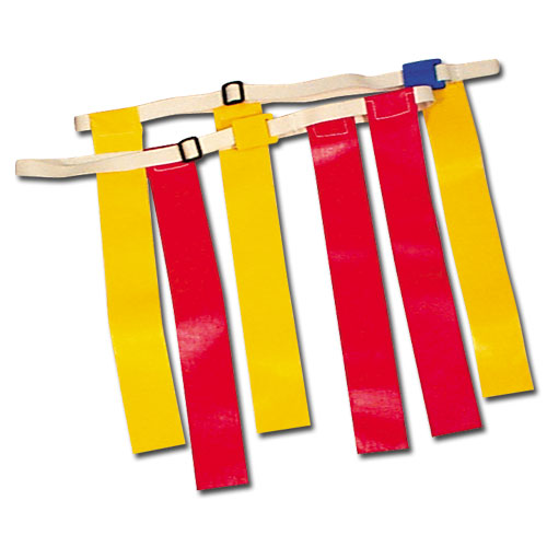 Collegiate Pacific 1149524 Triple Threat Flag Football Belt Yellow Small