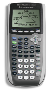 TEXAS INSTRUMENTS TI-84PLUS-SILVER Calculator  Graphing  PresentationCapable  24KB RAM  Silver