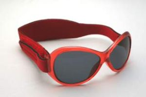 Baby Sunglasses - Baby Banz RBBOV001 Retro Banz Oval - Baby - Red