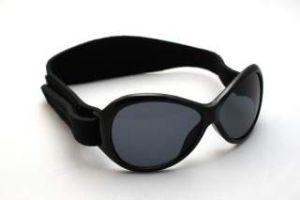 Baby Sunglasses - Baby Banz RBBOV007 Retro Banz Oval - Baby - Black