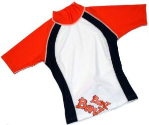Baby Swimwear - Baby Banz BRON00 Rash Shirt Orange/Blue/White Size 0