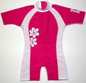 One Piece Swimwear - Baby Banz BNZPF02 One Piece Pink/White Size 2