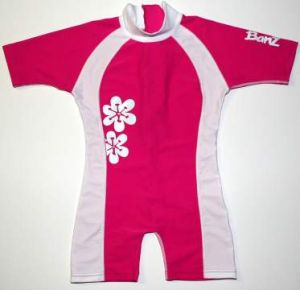 One Piece Swimwear - Baby Banz BNZPF04 One Piece Pink/White Size 4