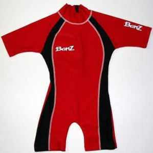 One Piece Swimwear - Baby Banz BNZRB04 One Piece Red/Black Size 4