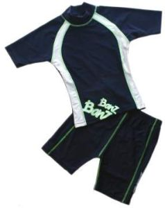 Baby Swimwear - Baby Banz BSNVY08 Shorts Blue/White Size 8