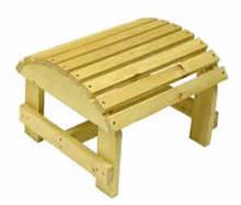 "Bear Chair BC01C 13"" x 18"" x 17"" Cedar Ottoman Kit"