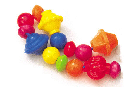 "Roylco R-2170 1/4"" - 1"" Beads - 100 Package"