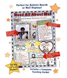 SCHOLASTIC TEACHING RESOURCES SC-0439152852 INSTANT PERSONAL POSTER SETS READ A-LL ABOUT ME