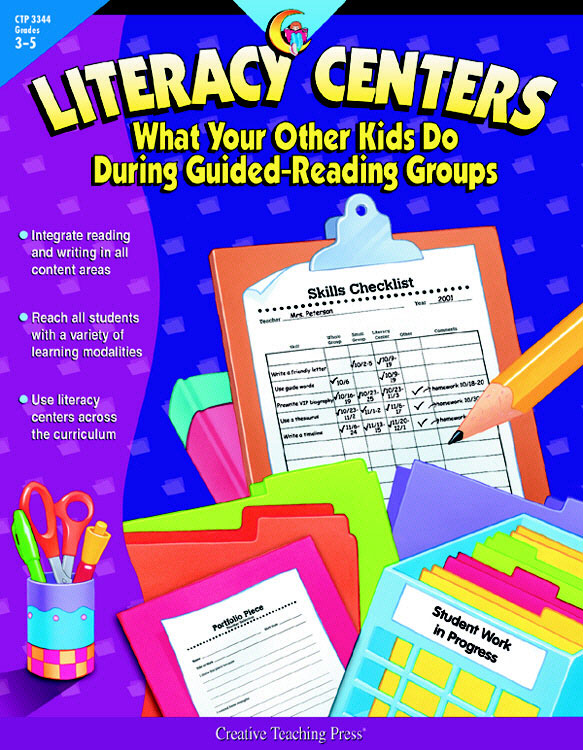 CREATIVE TEACHING PRESS CTP3344 LITERACY CENTERS-GR. 3-5