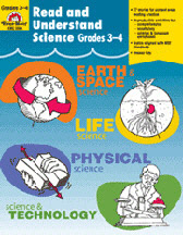 EVAN-MOOR EMC3304 READ AND UNDERSTAND SCIENCE GR. 3-4 EDRE4158
