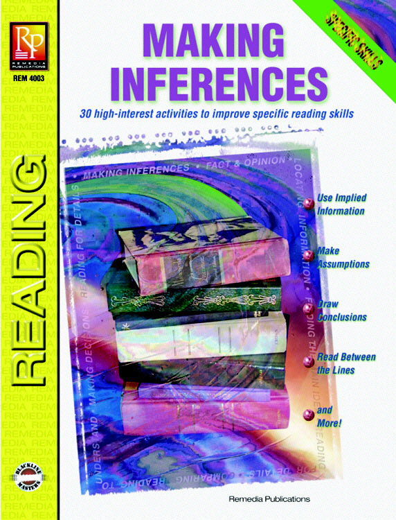REMEDIA PUBLICATIONS REM4003 SPECIFIC READING SKILLS MAKIN-G INFERENCES