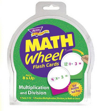 TREND ENTERPRISES T-1673 MATH WHEEL FLASH CARDS MULTIP/DIV-12/PK MULTIPLICATION AND DIVISION