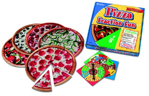 LEARNING RESOURCES LER5060 PIZZA FRACTION FUN GAME