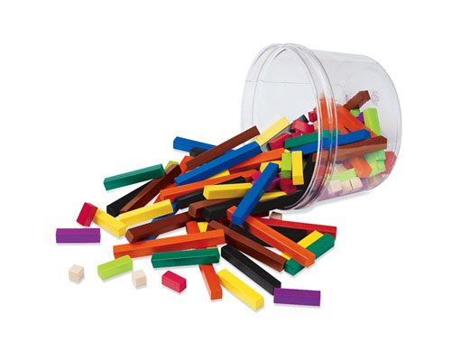 LEARNING RESOURCES LER7513 CUISENAIRE RODS SMALL GROUP PLASTIC-155/PK