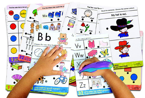 Electronic Cards - EDUCATIONAL INSIGHTS EI-6107 PHONICS FUN-80 2-SIDED CARDS And POWER PEN