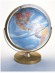 REPLOGLE GLOBES RE-30801 16-1/2'' H Pioneer Globe - Blue
