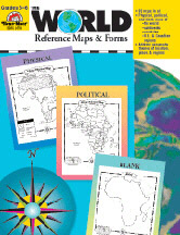 EVAN-MOOR EMC3720 THE WORLD REFERENCE MAPS & FORMS GR-3-6