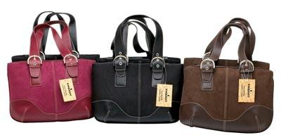 Suede Purses - Embassy 6pc Faux Suede Purses