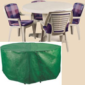 Bosmere B320 74 Inch  Round Patio Set Polyethylene Cover