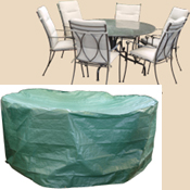 Bosmere B322 98 Inch Round Patio Set Polyethylene Cover