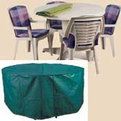 Bosmere C524 84 Inch Round Table and Chairs Polyethylene Cover