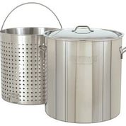 Bayou Classic 1160 62-Qt. Fryer- Steamer with Lid and Basket - Stainless