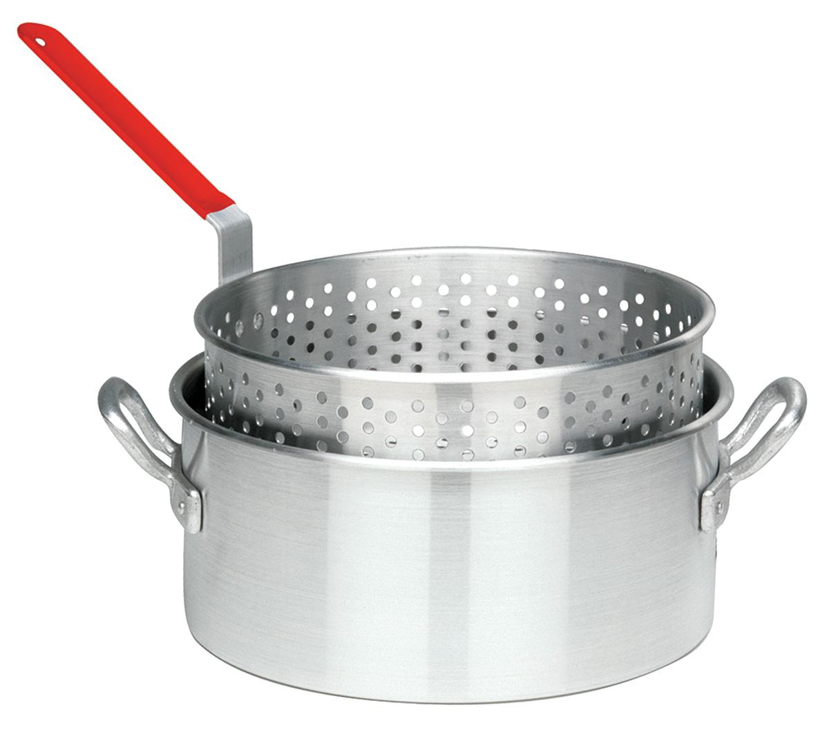 Bayou Classic 1201 Aluminum 10-Qt. Fry Pot- Basket - No Lid