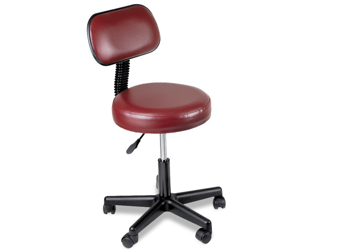 Chattanooga 77065 Burgundy with Back Pneumatic Stool