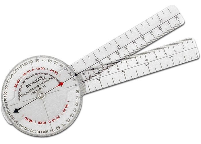 Chattanooga 43060 Plastic 360 ISOM Plastic Goniometer - 6 (15 cm)