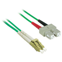 Cables To Go 37231 1m LC-SC DUPLEX 62.5-125 MULTIMODE FIBER PATCH CABLE - GREEN