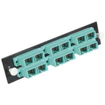 Cables To Go 31103 Q-SERIES 12-STRAND  SC DUPLEX  PB INSERT  MM  AQUA SC ADAPTER PANEL