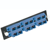 Cables To Go 31107 Q-SERIES 12-STRAND  SC DUPLEX  ZIRCONIA INSERT  SM  BLUE SC ADAPTER PANEL CTG4068