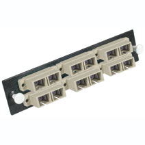 Cables To Go 31109 Q-SERIES 12-STRAND  SC  PB INSERT  MM  BEIGE SC ADAPTER PANEL
